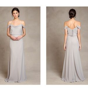 Jenny Yoo Collection Sabine dress in alpine gray